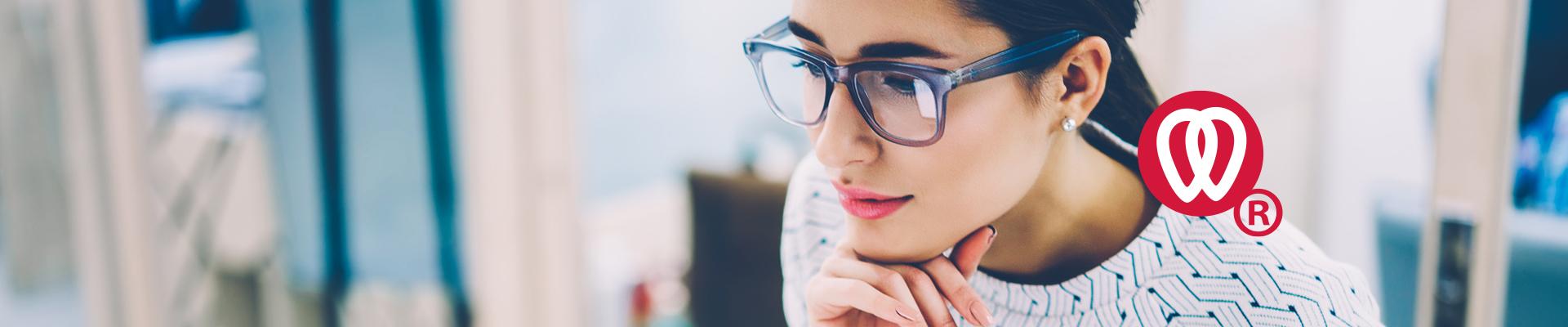 Vrouw met bril Dental-Match